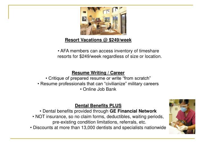 Resort Vacations @ $249/week