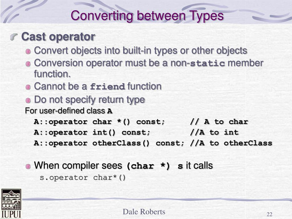 Converting between Types
