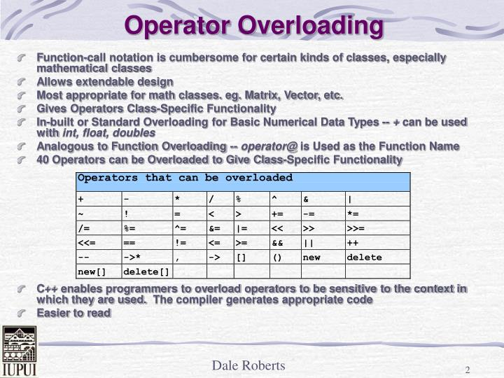 Operator overloading2