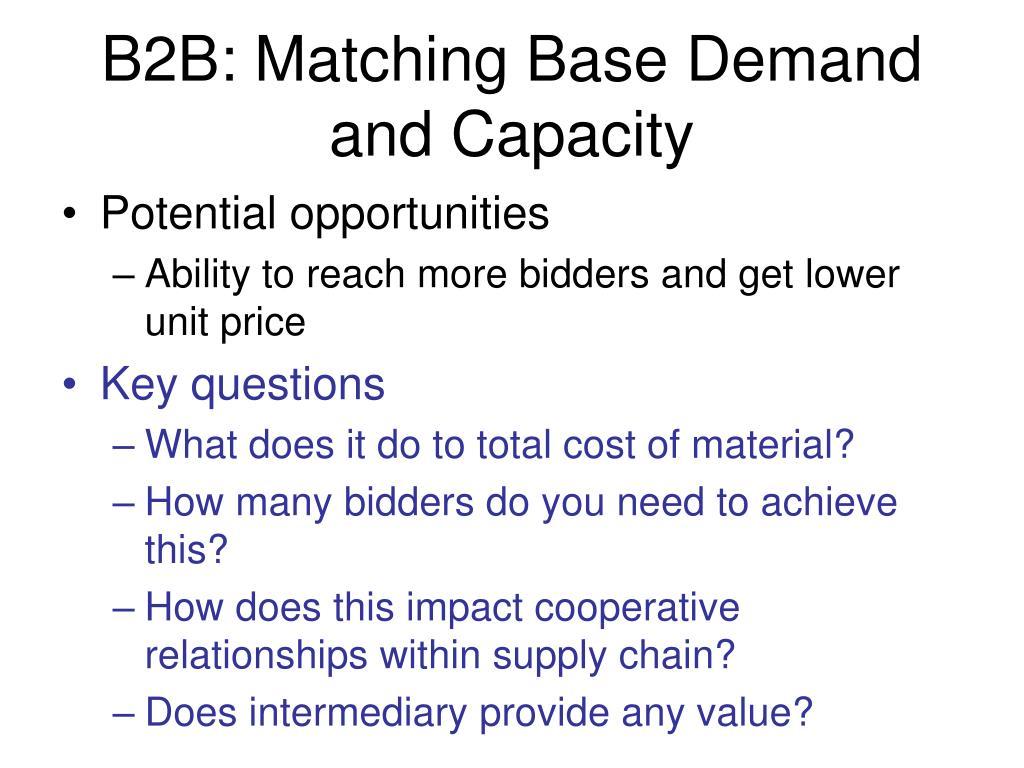 B2B: Matching Base Demand and Capacity