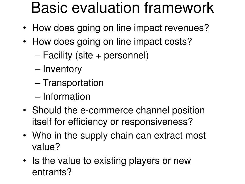 Basic evaluation framework
