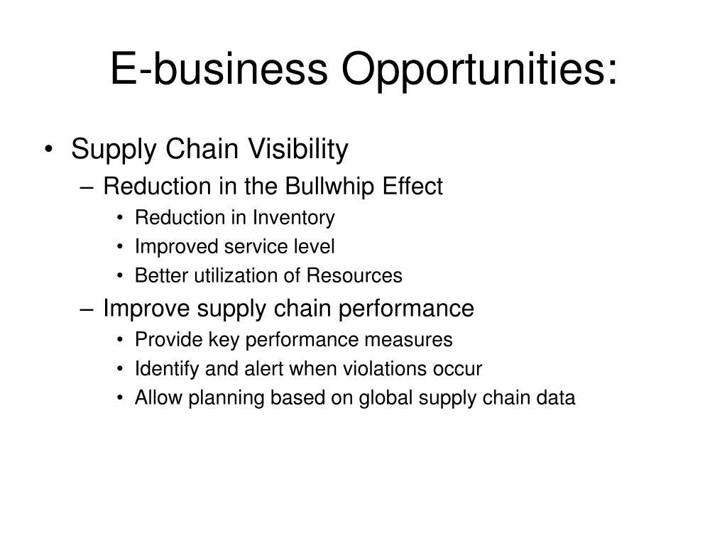 E-business Opportunities: