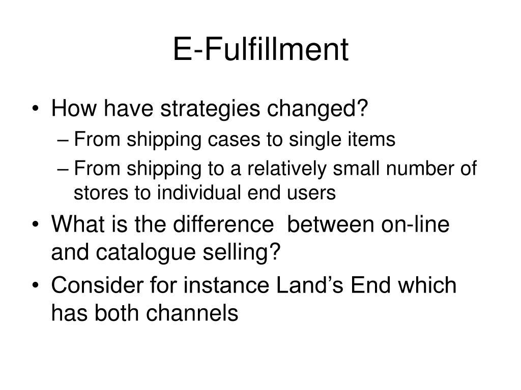 E-Fulfillment