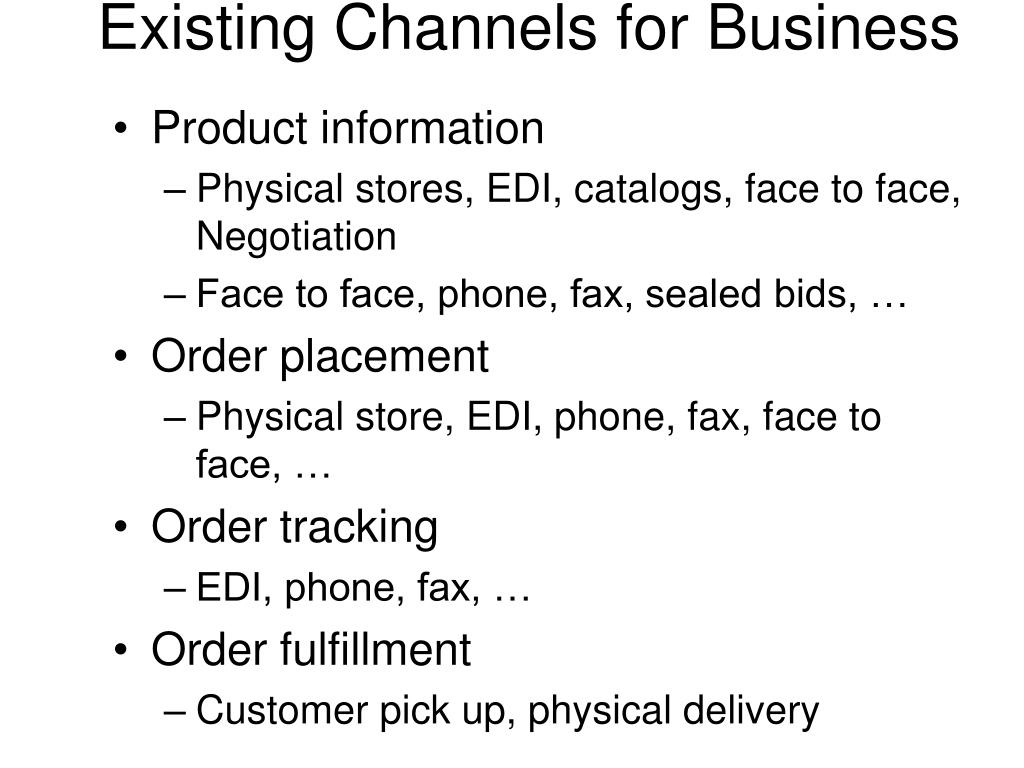 Existing Channels for Business