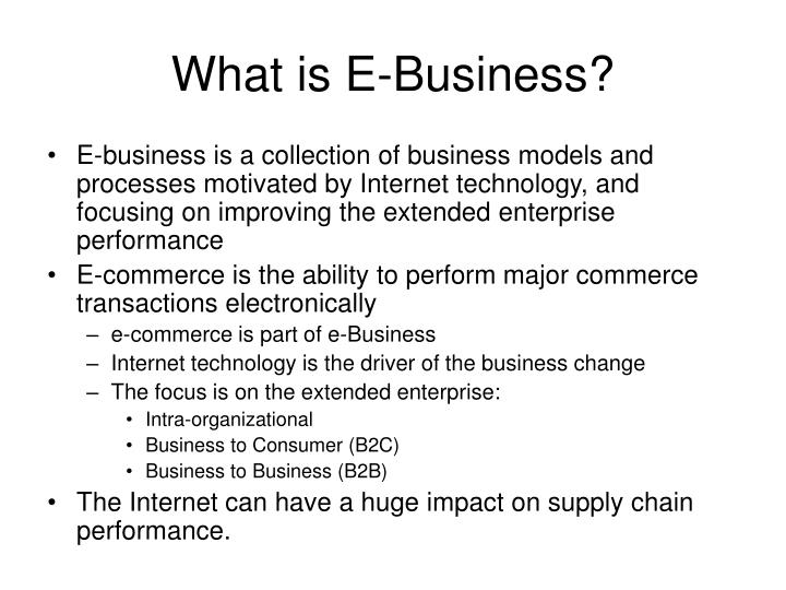 What is e business