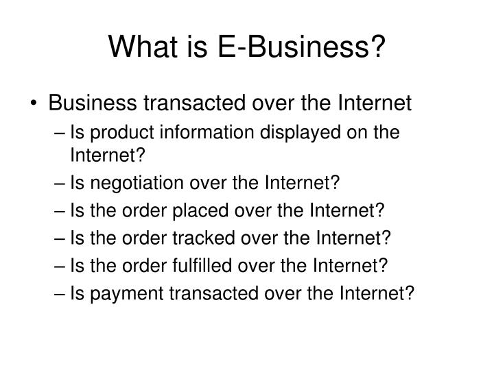 What is e business3