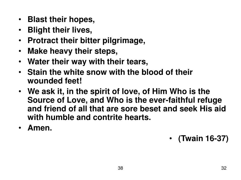 Blast their hopes,