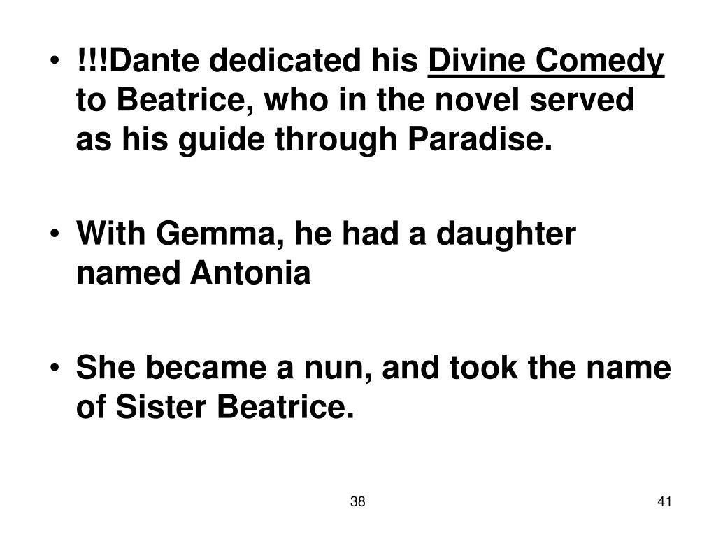 !!!Dante dedicated his