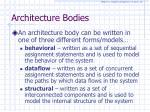 architecture bodies