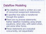 dataflow modeling