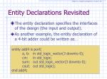 entity declarations revisited