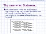 the case when statement