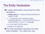 the entity declaration