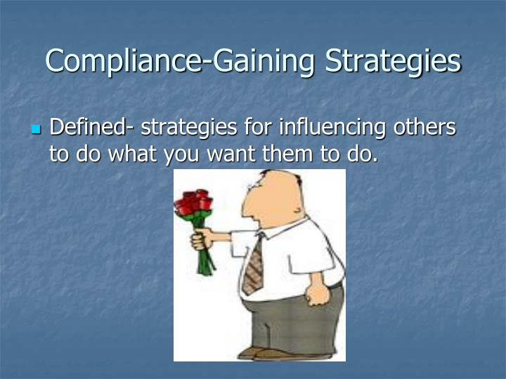 compliance gaining strategies