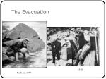 the evacuation