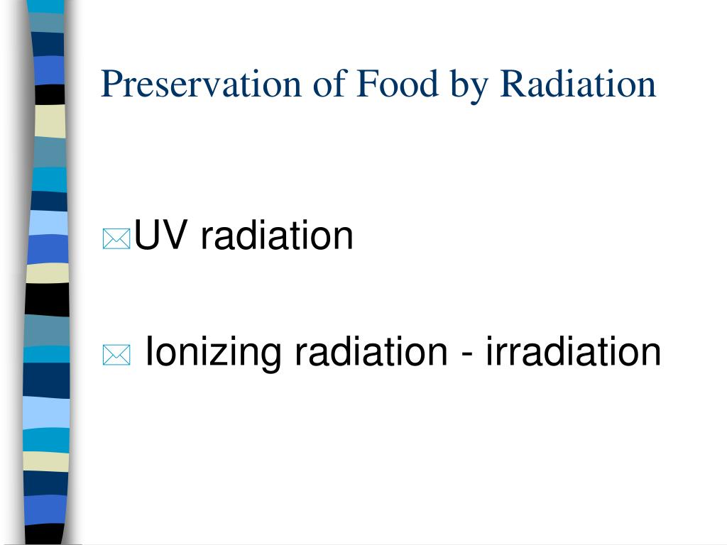 preservation of food by radiation l.