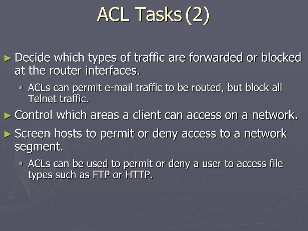 ACL Tasks