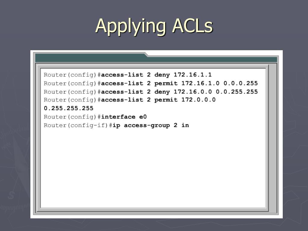 Applying ACLs