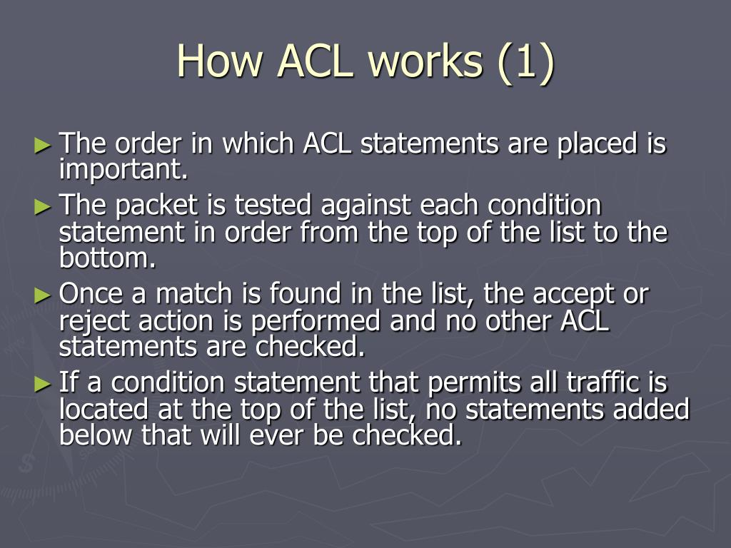 How ACL works (1)