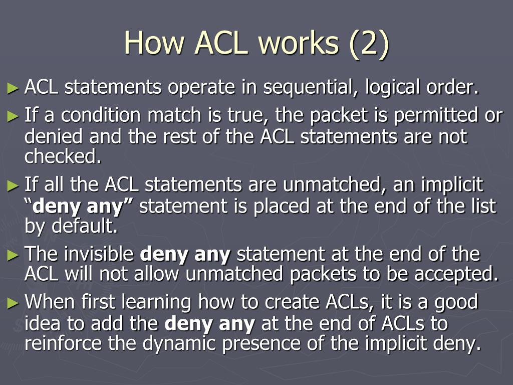 How ACL works (2)