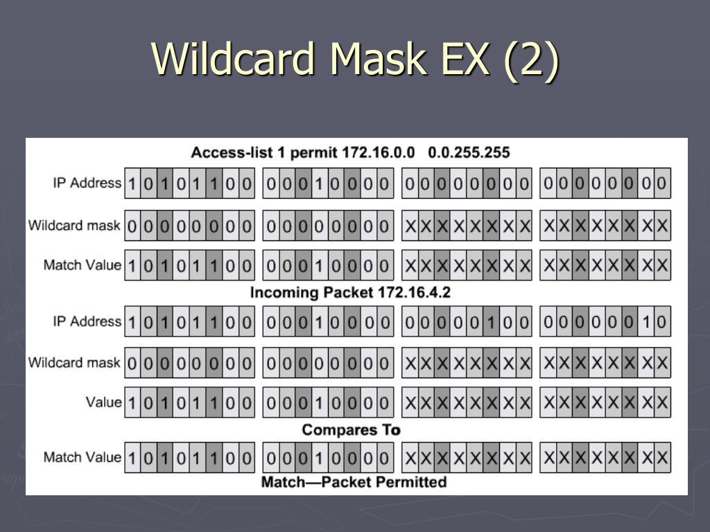 Wildcard Mask EX (2)