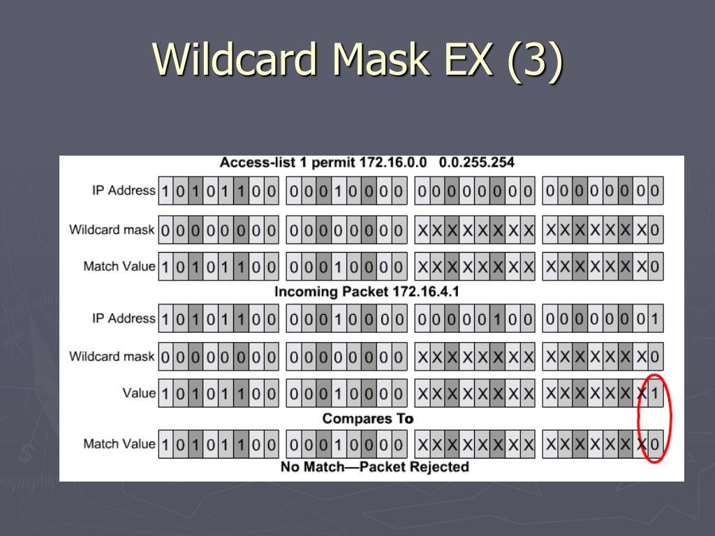 Wildcard Mask EX (3)