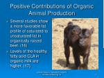 positive contributions of organic animal production17