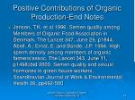 positive contributions of organic production end notes25