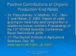 positive contributions of organic production end notes29