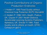 positive contributions of organic production endnotes