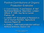 positive contributions of organic production endnotes23
