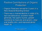 positive contributions of organic production10