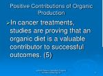 positive contributions of organic production11