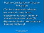 positive contributions of organic production6