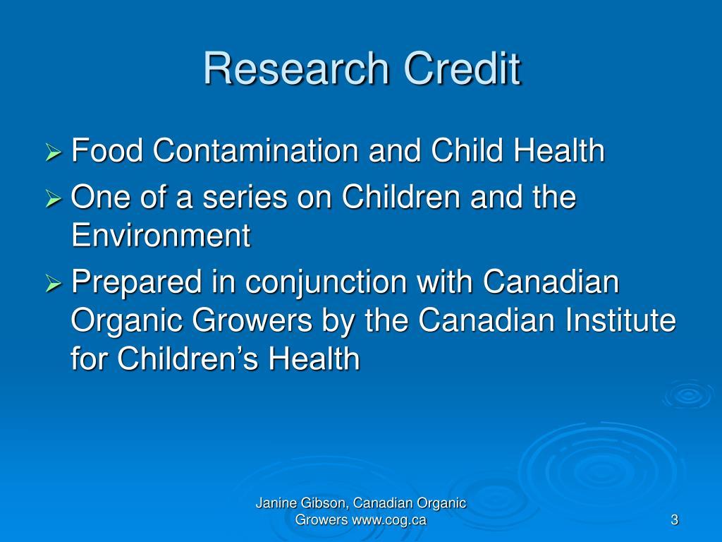 Research Credit