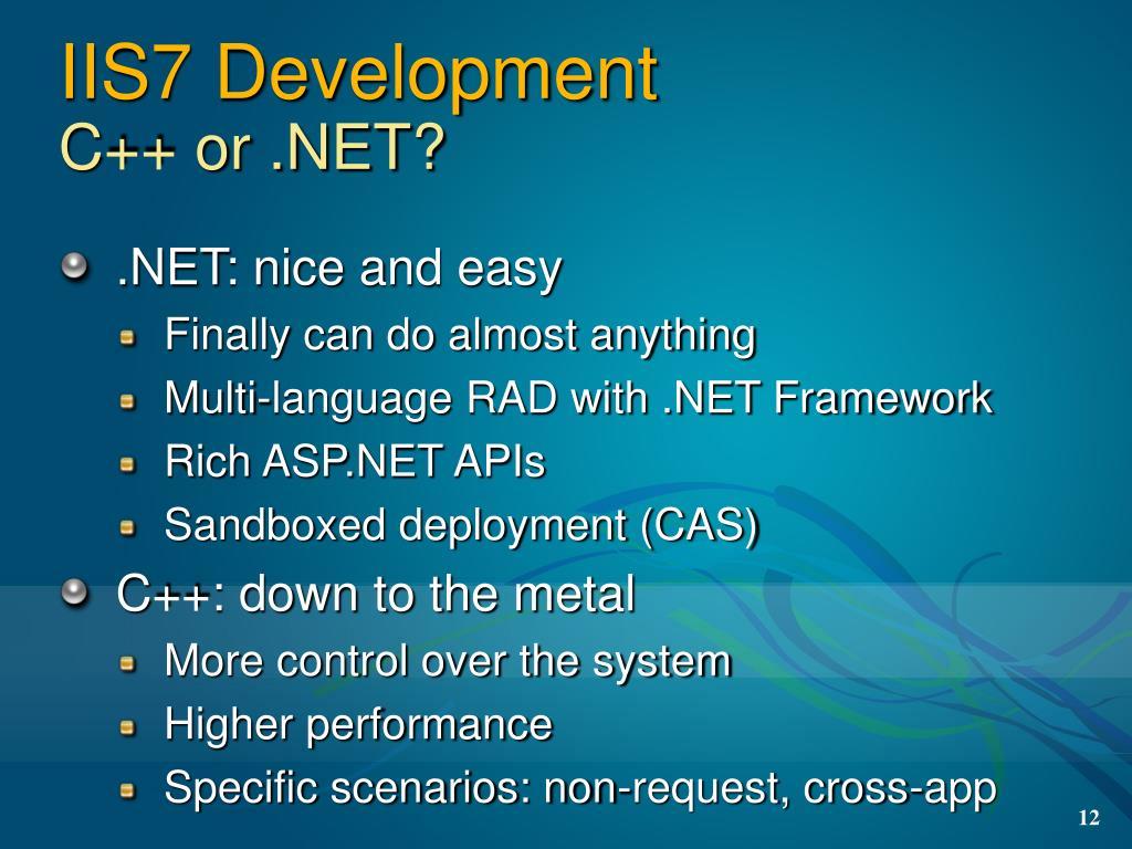 IIS7 Development