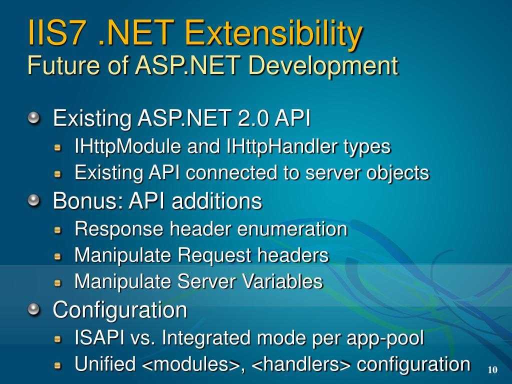 IIS7 .NET Extensibility