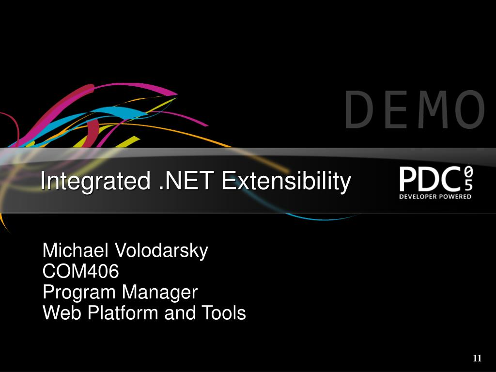 Integrated .NET Extensibility
