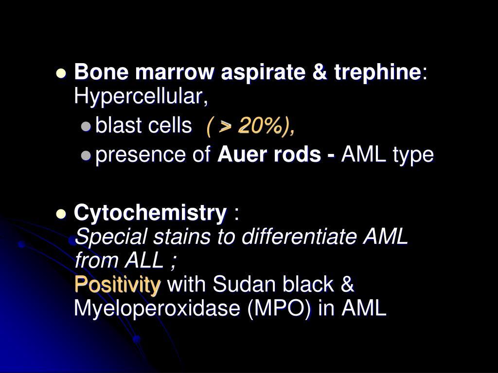 Bone marrow aspirate & trephine