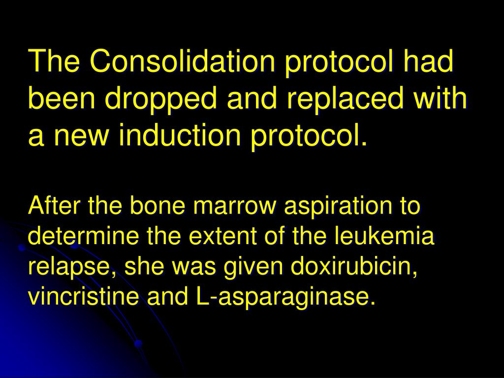 The Consolidation protocol had been dropped and replaced with a new induction protocol.