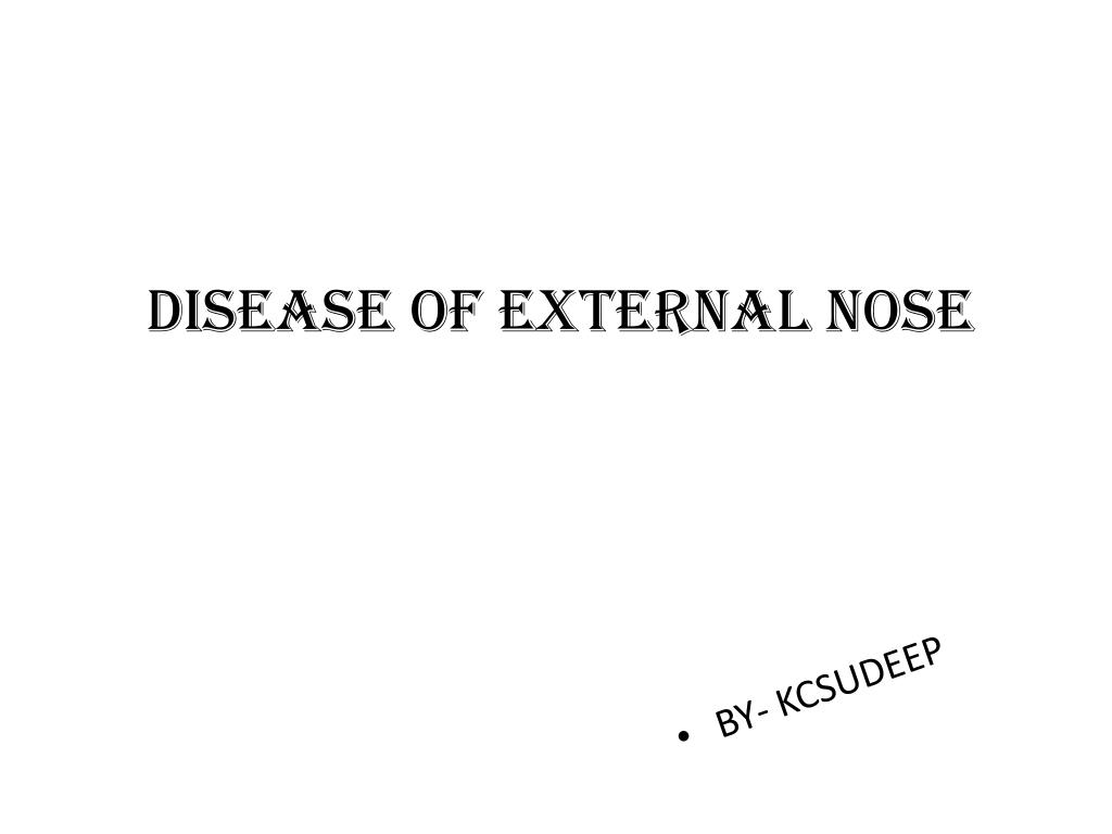 Disease of external nose