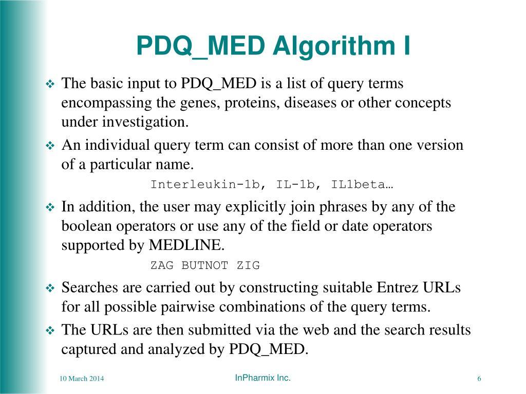 PDQ_MED Algorithm I