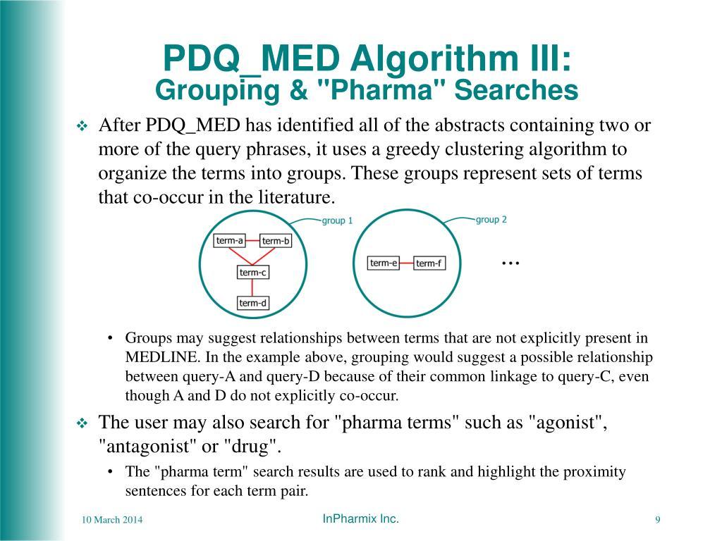 PDQ_MED Algorithm III: