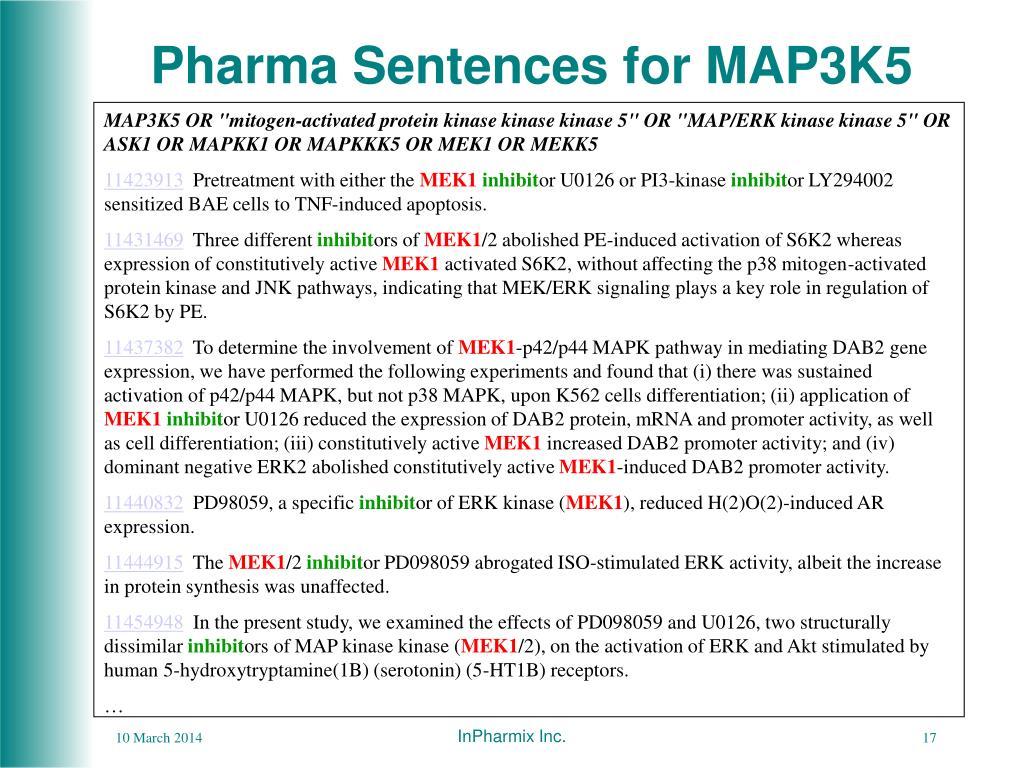 Pharma Sentences for MAP3K5