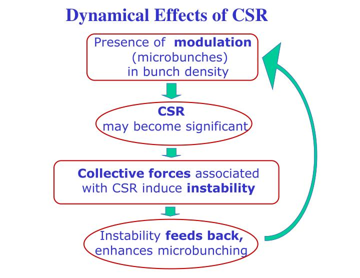 Dynamical Effects of CSR