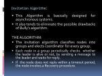 invitation algorithm