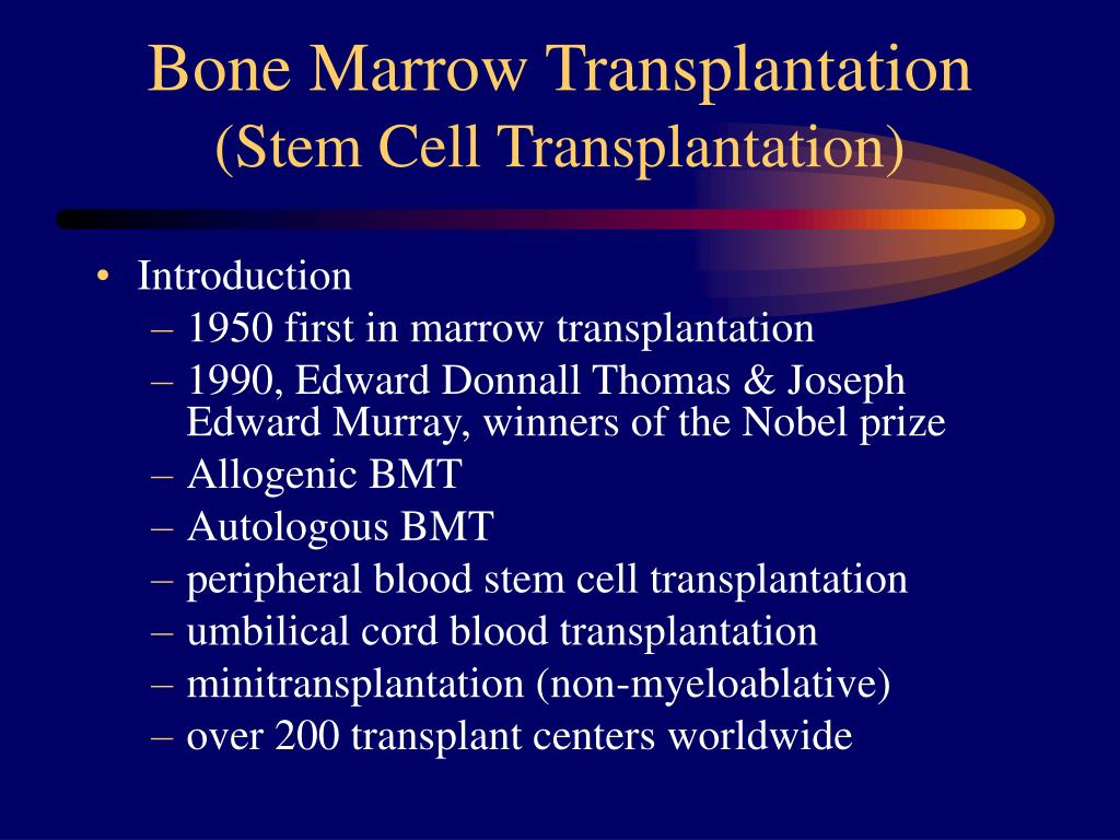 bone marrow transplantation stem cell transplantation