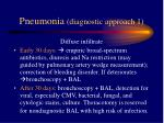 pneumonia diagnostic approach 1