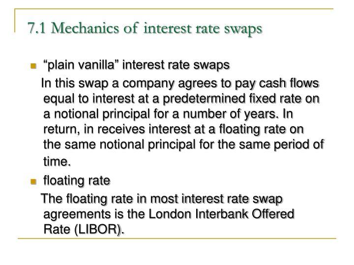 7 1 mechanics of interest rate swaps
