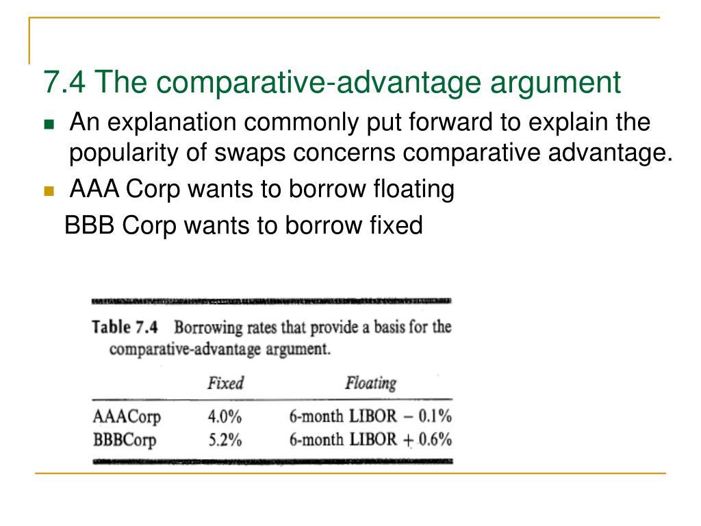 7.4 The comparative-advantage argument